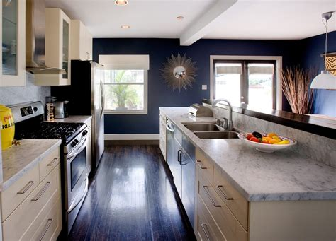 Dark Blue Kitchen Walls by Blue Walls In Kitchen Kitchen Contemporary With Marble