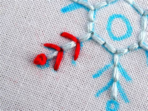 work pattern in french simple snowflake embroidery pattern tutorial wandering