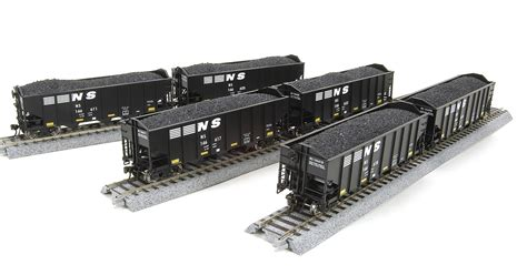 broadway 1791 norfolk southern h2a 3 bay coal hopper 6 car