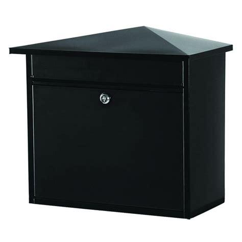 gibraltar mailboxes barlowe black wall mount mailbox