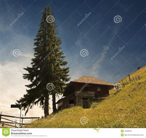 Cottage On A Hill by Cottage On A Hill Stock Photo Image 15009030