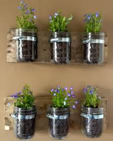 diy hanging wall planters from jars kasey trenum