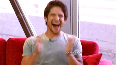 excited tyler posey gif find amp share on giphy