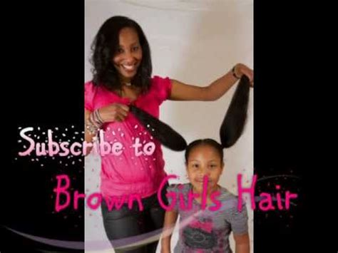Natural Brown Girls Hair (Hairstyles for Girls)   YouTube