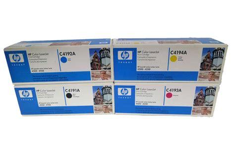 Toner Hp Laserjet 4500 4550 Remanufacture C4191a Black Hp 4500 4550 Toner C4191a C4192a C4193a C4194a Genuine