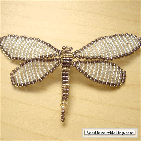beaded dragonflies on beaded dragonfly