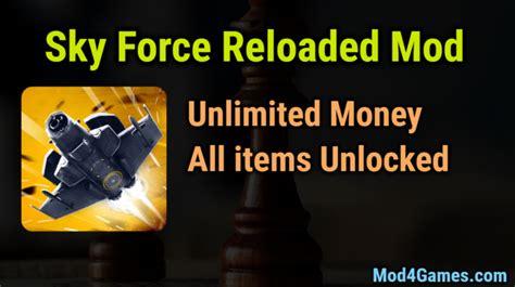 game offline mod unlimited money sky force reloaded unlimited money game mod apk free with