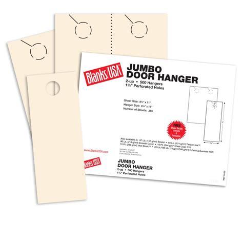 blanks usa templates ivory jumbo door hangers 8 1 2 x 11 in 67 lb bristol
