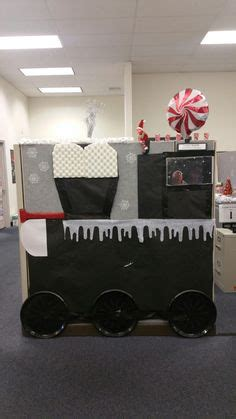 office decorated in the polar express polar express decorating cubicles at work for at the office