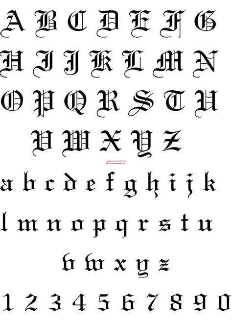 printable tattoo fonts tattoo fonts pinteres