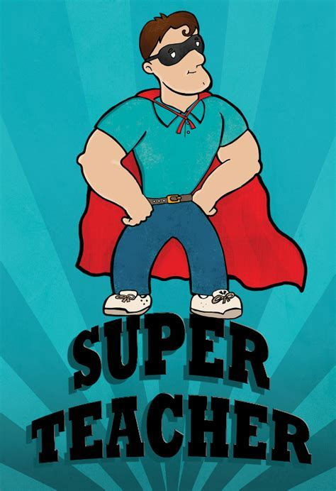Super Teacher Thanks   Thank You Card For Teacher (Free
