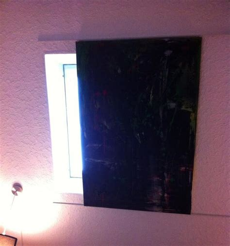 fenster verdunkelung selber machen dachfenster mit leinwandbild selbst verdunkeln