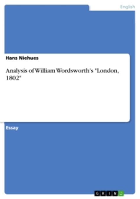 themes of london 1802 london summary