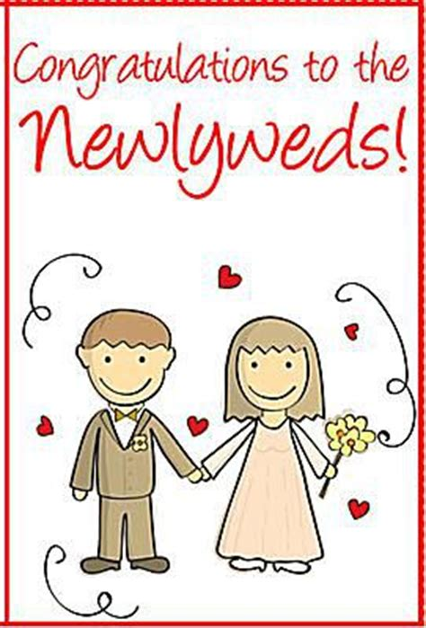 newlywed card template links to free printable wedding cards