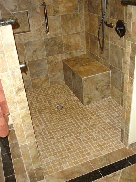Curbless Shower Design Ideas by Universal Design Shower With Curbless Entry Transitional