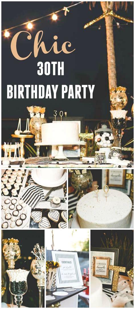 stripes glitter birthday chic black white gold  birthday party  birthday