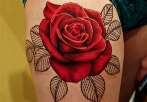 open rose tattoo realistic realistic do not like
