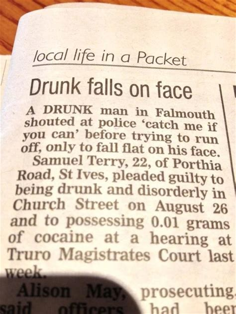 the inquisitr local news can be seriously funny here funny newspaper quotes quotesgram