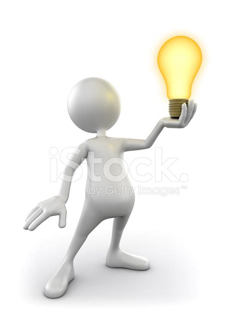 Apartment Designs by 3d Man Holding Idea Lightbulb Isolated Clipping Path
