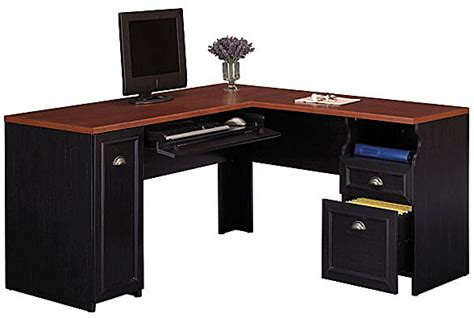 Bush Fairview Collection L Desk Antique Black Hansen Bush Fairview Collection L Shaped Desk