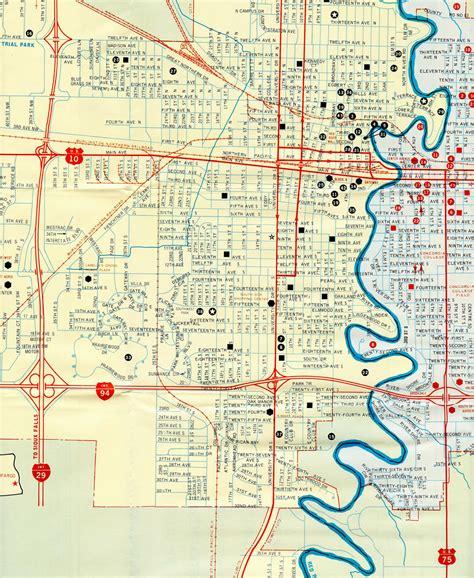 map of fargo nd dakota aaroads interstate 94