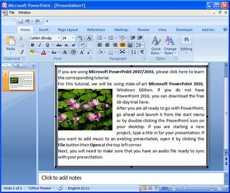 How To Wrap Text Around Picture In Powerpoint 2007 Where To Powerpoint