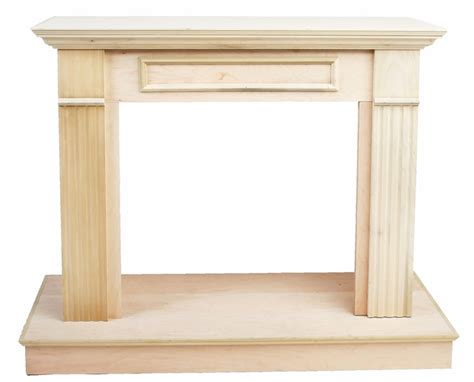 Unfinished Wood Fireplace Mantels by Vantage Hearth 26 Inch Traditional Unfinished Wooden Wall