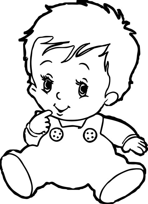 coloring pages cute baby baby boy coloring pages wecoloringpage