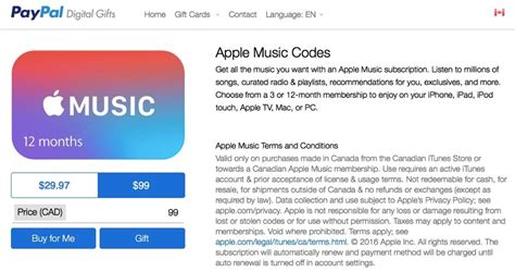 Apple Music Gift Card Family - apple music deal paypal offers 12 months for 99 two months free iphone in canada