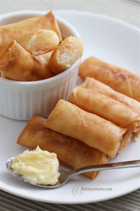 membuat kulit lumpia garing cooking diary lumpia udang mayonnaise bebenyabubu
