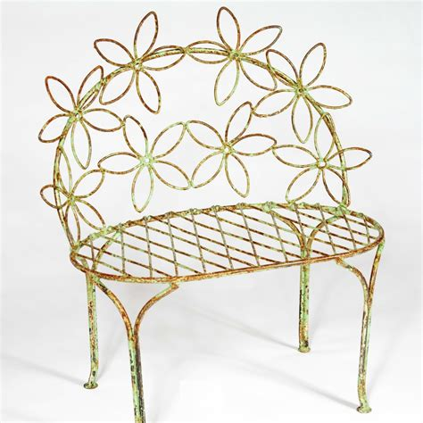 wrought iron butterfly bench child s wrought iron daisy bench
