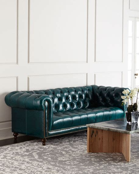 sofa shops in chesterfield massoud davidson 119 quot tufted seat chesterfield sofa