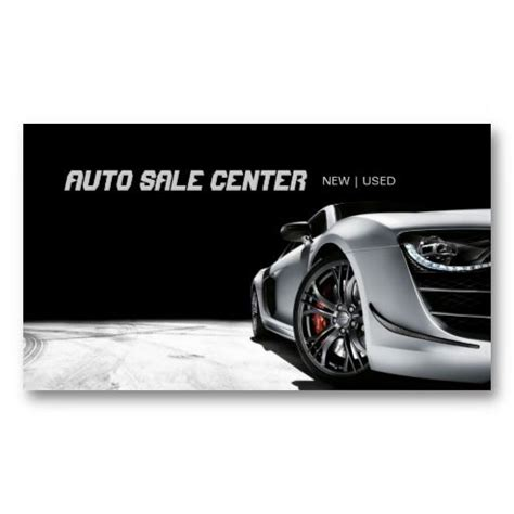 Car Sales Business Cards
