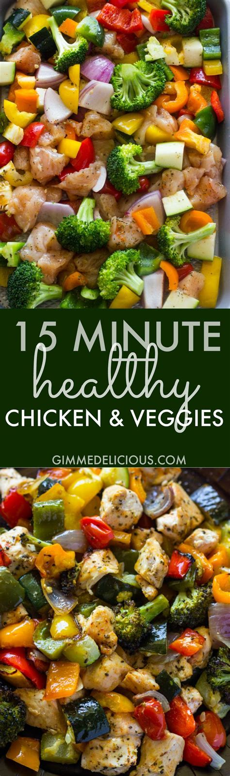 15 minute healthy roasted chicken and veggies one 25 best ideas about roasted chicken breast on