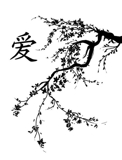black and white cherry blossom tattoo designs japanese cherry blossom tree black and white cherry