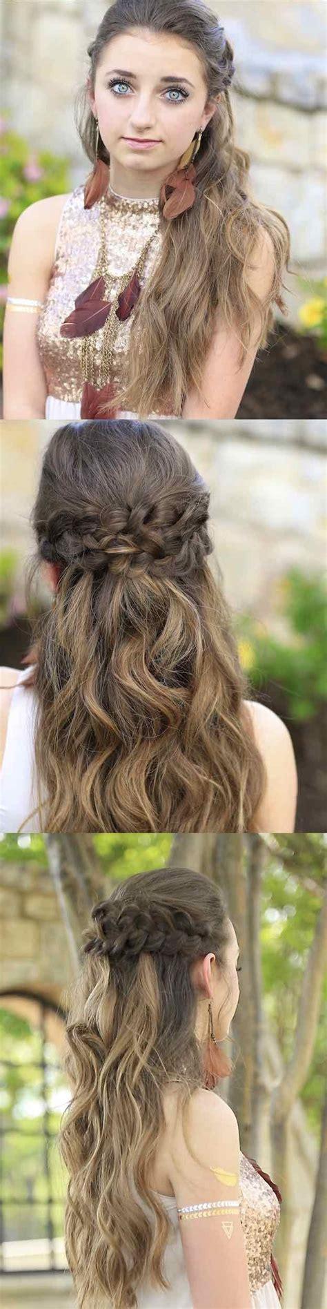 Long Straight Hairstyles Half Up Half Down