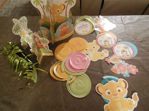 Free Disney S The Lion King Baby Shower Decorations King Baby Shower Centerpieces