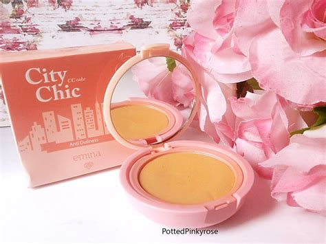 Emina City Chic Cc Cake Butterscotch 12gr Two Way Cake T2909 potted pinkyrose review emina city chic cake latte