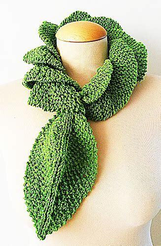 leaf pattern neckwear ravelry neckwear ruffle leaf pattern by jen giezen