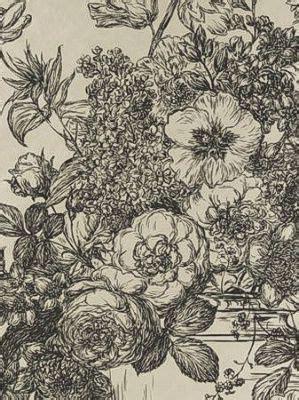 lés de papier peint 3566 clarke clarke 20 1 2 quot floral bouquet black gold