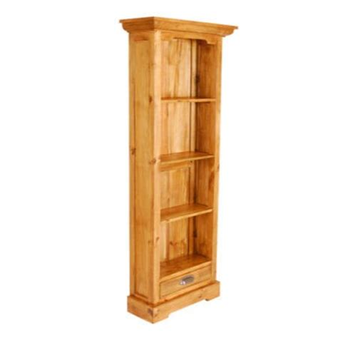 Shallow Bookcase pine narrow shallow bookcase furniture123