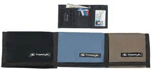 image for freestyle twill trifold wallet black