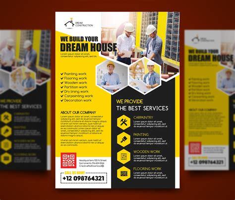 Construction Flyer Psd Bundle Freebie Home Improvement Flyer Template Free