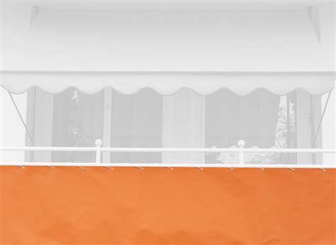 markisen paradies gutschein balkonbespannung 75 cm design uni orange pe