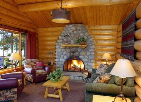 One Room Cabin Interiors by Cozy Alpine Log Cabin Cozy Homes