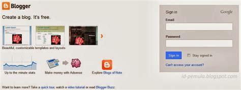 blogger id tilan baru halaman login blogger id pemula blogspot