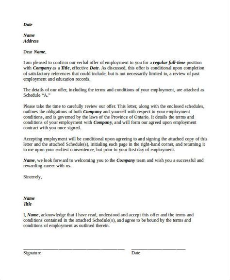 Offer Letter Copy 73 Offer Letter Templates Free Premium Templates