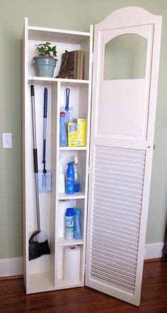 Storage Cabinets For Mops And Brooms by 1000 Ideas About Broom Storage On Mops And