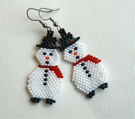 patterns christmas jewelry totally twisted bangles beads snowman earrings