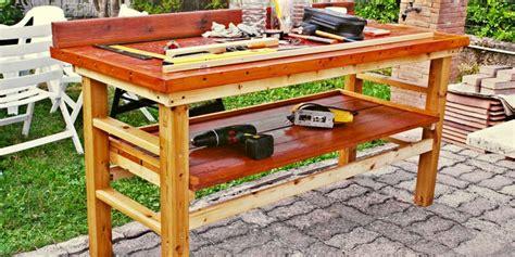 costruire un banco da lavoro banco da lavoro fai da te in legno come costruirlo senza